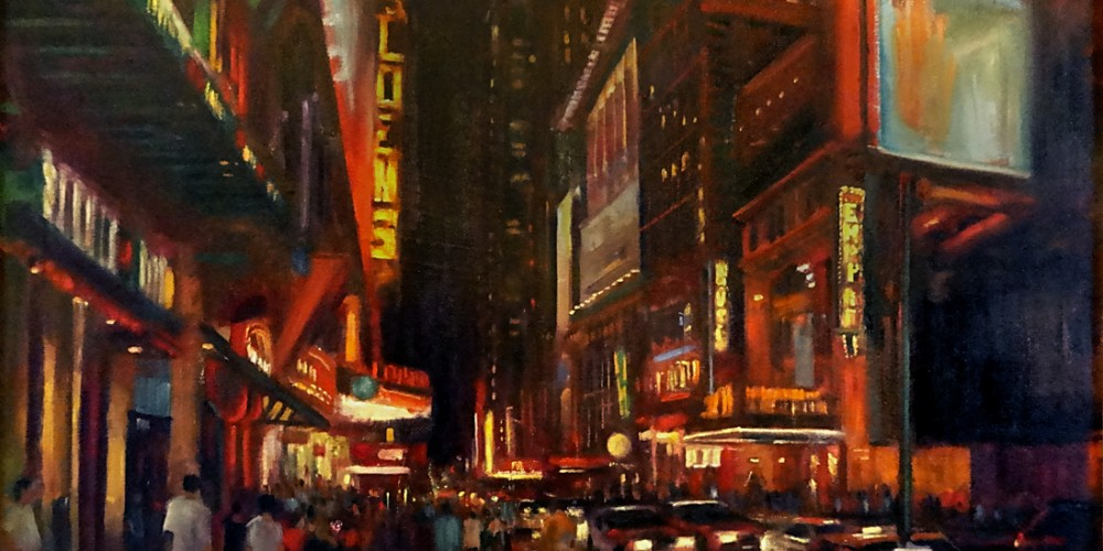 42nd Street New York City, NYC Paintings