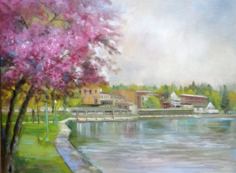Skaneateles, NY, View from Shotwell Park, Giclée Print