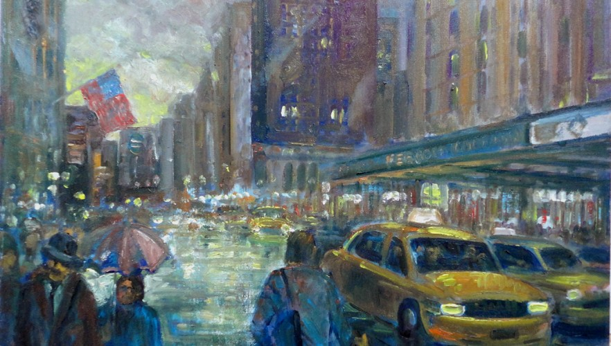 Broadway Ave., New York City, Taxi Cab Paintings