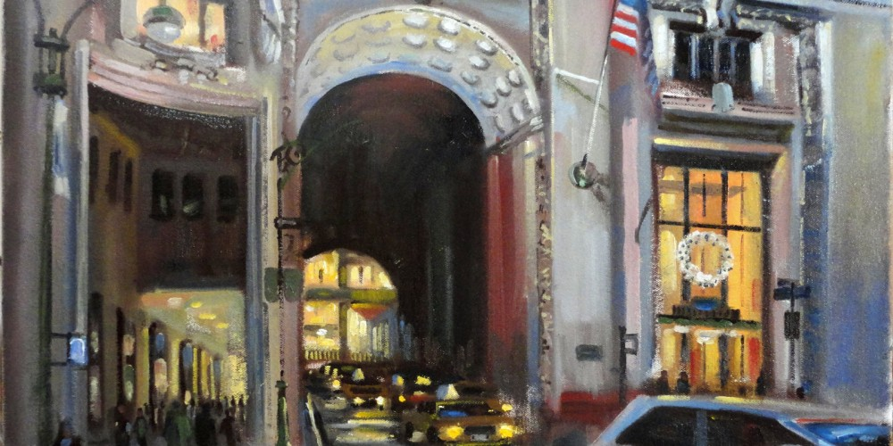Helmsley Building at Park Ave, NYC Painting for Sale
