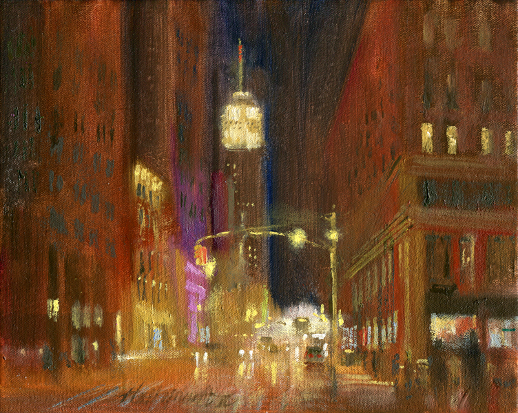 Empire State Building Painting, New York | Purchase Oil ...