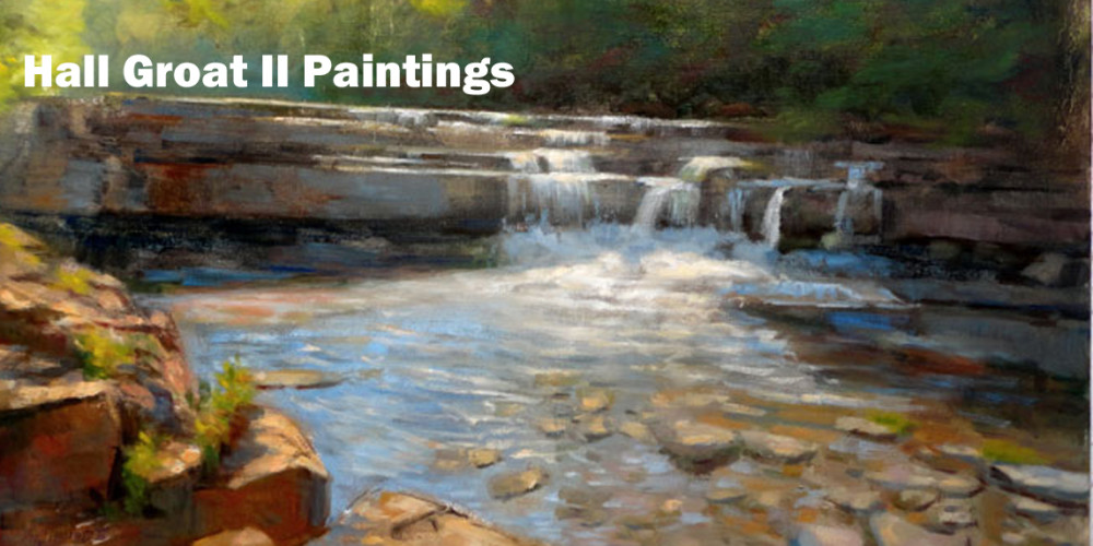 Lower Taughannock Creek, Ulysses, New York 30×40 in. Oil on canvas
