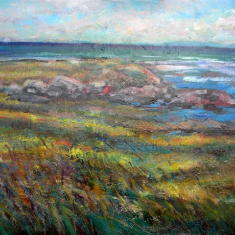 Monhegan Island Maine 23x36 By Hall Groat Sr.