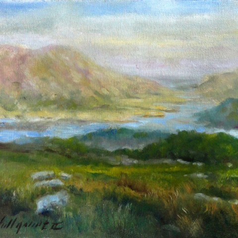 Ring of Kerry Afternoon, Ireland 11 x 14 inches Oil on canvas by Hall Groat II