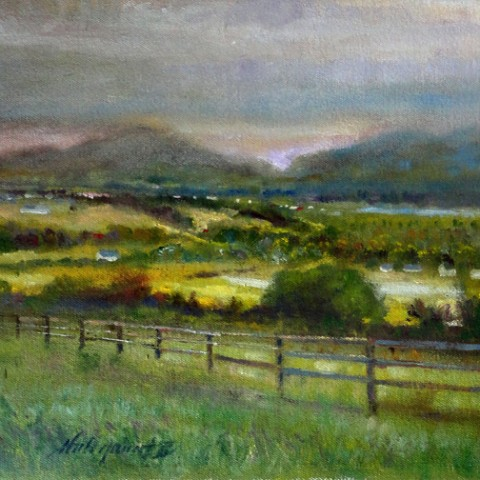 Ring of Kerry Dusk, Ireland 11x 14 inches Oil on canvas by Hall Groat II
