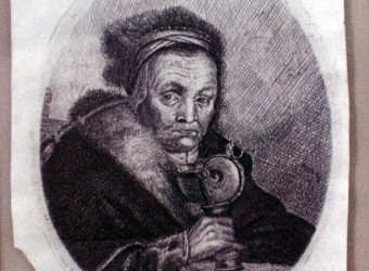 Rembrandt's Grandmother, Etching