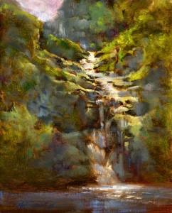 waterfall-paintings-oil