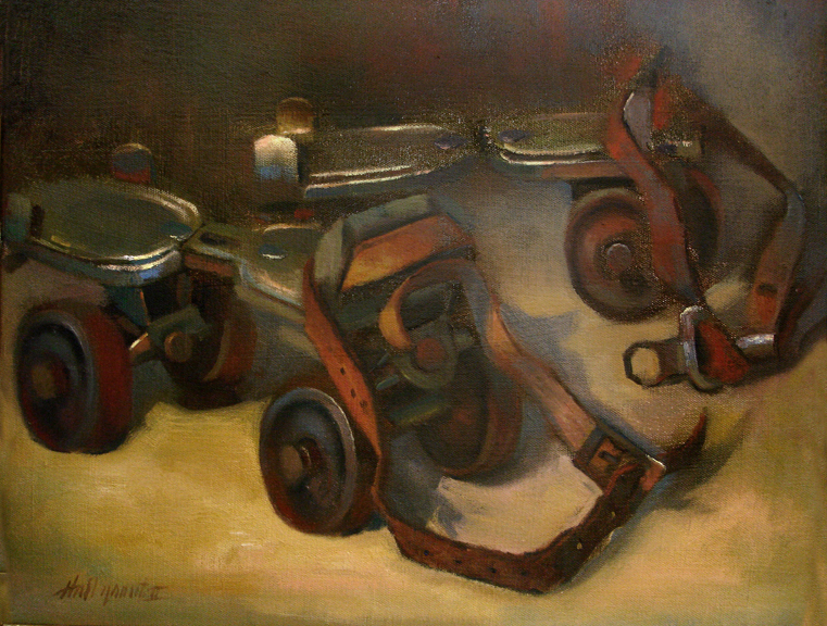 antique-roller-skates-painting