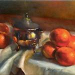 Tangerines with Sterling Silver Creamer