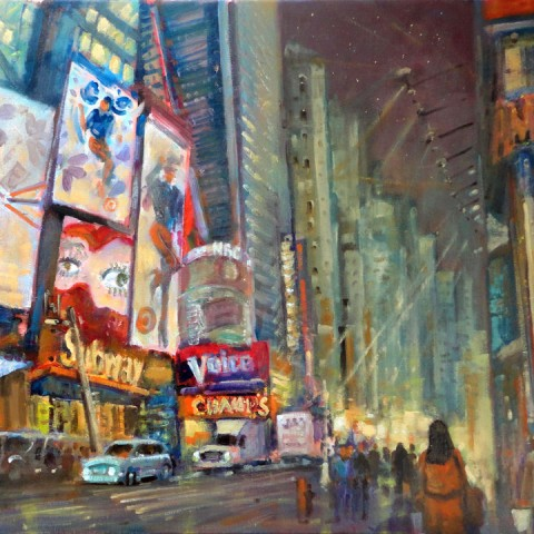 Times Square Night Painting