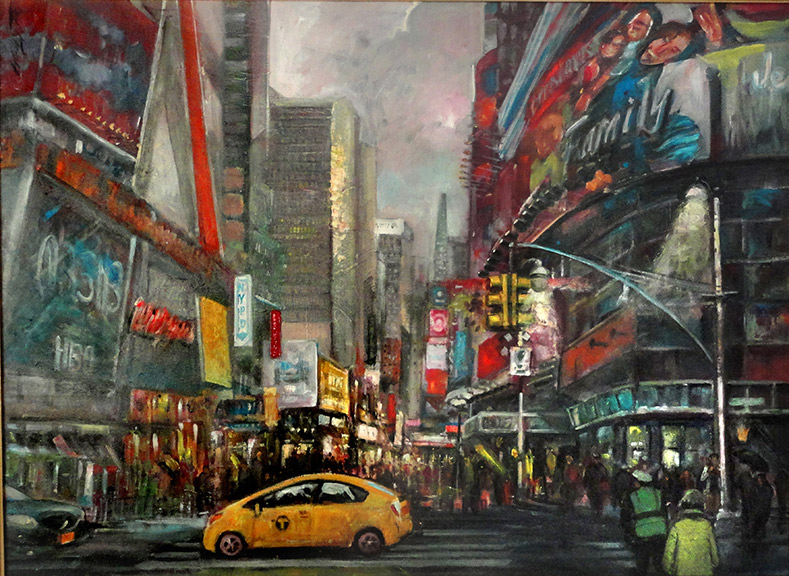 Times Square New York Painting