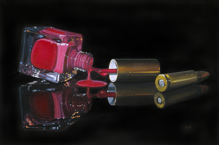 Jette van der Lende,Chr.Krohgsvei68,Oppegard,Norway, he who lives on illusions, dies of disappointment,oil on linen,70x105cm,$4000
