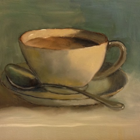 student teacup painting